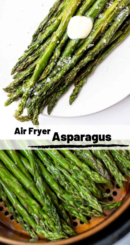 air fryer asparagus recipe photo collage