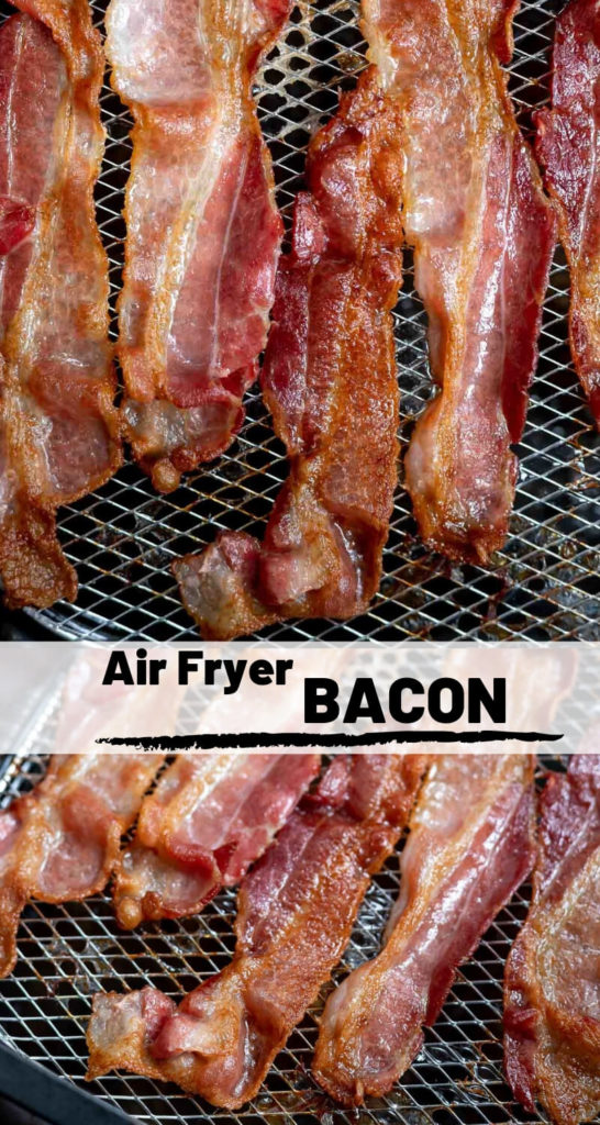 nuwave air fryer bacon recipe photo collage
