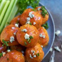 Air Fryer Buffalo Chicken Meatballs Recipe