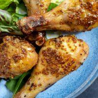 Air Fryer Honey Mustard Chicken Legs Recipe