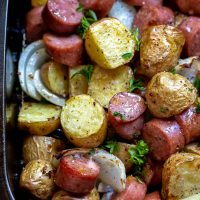 Air Fryer Sausage and Potatoes Dinner