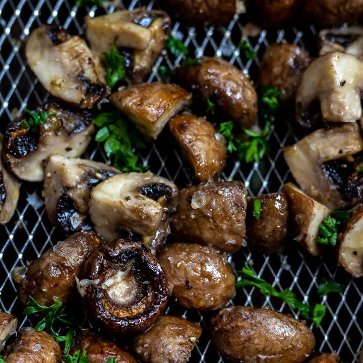 Air Fryer Garlic Mushrooms Recipe