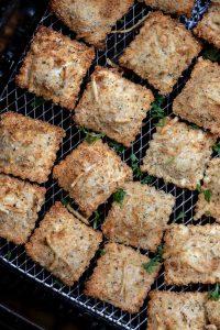 baked ravioli in air fryer basket