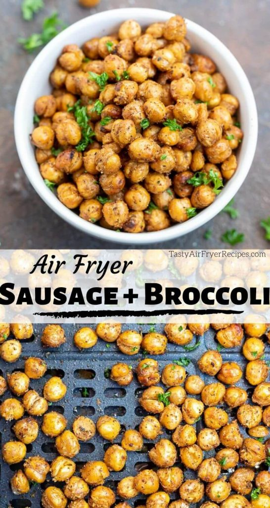 air fryer chickpeas photo collage