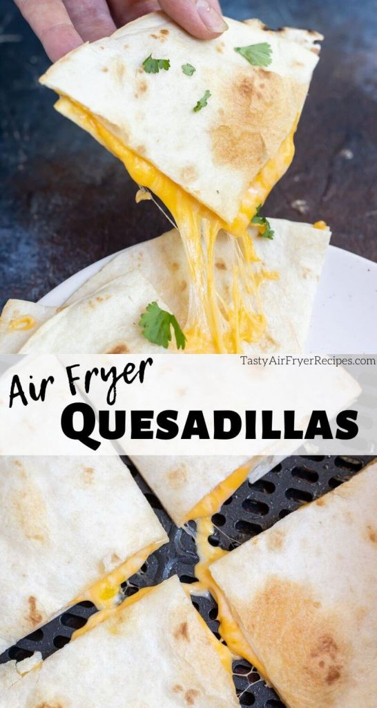 air fryer quesadillas photo collage