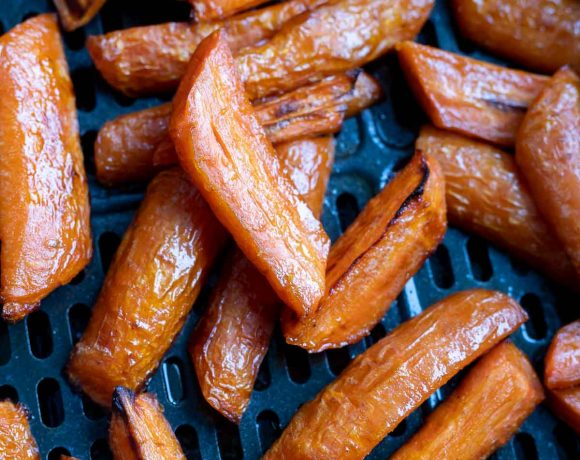 roasted carrots in air fryer basket