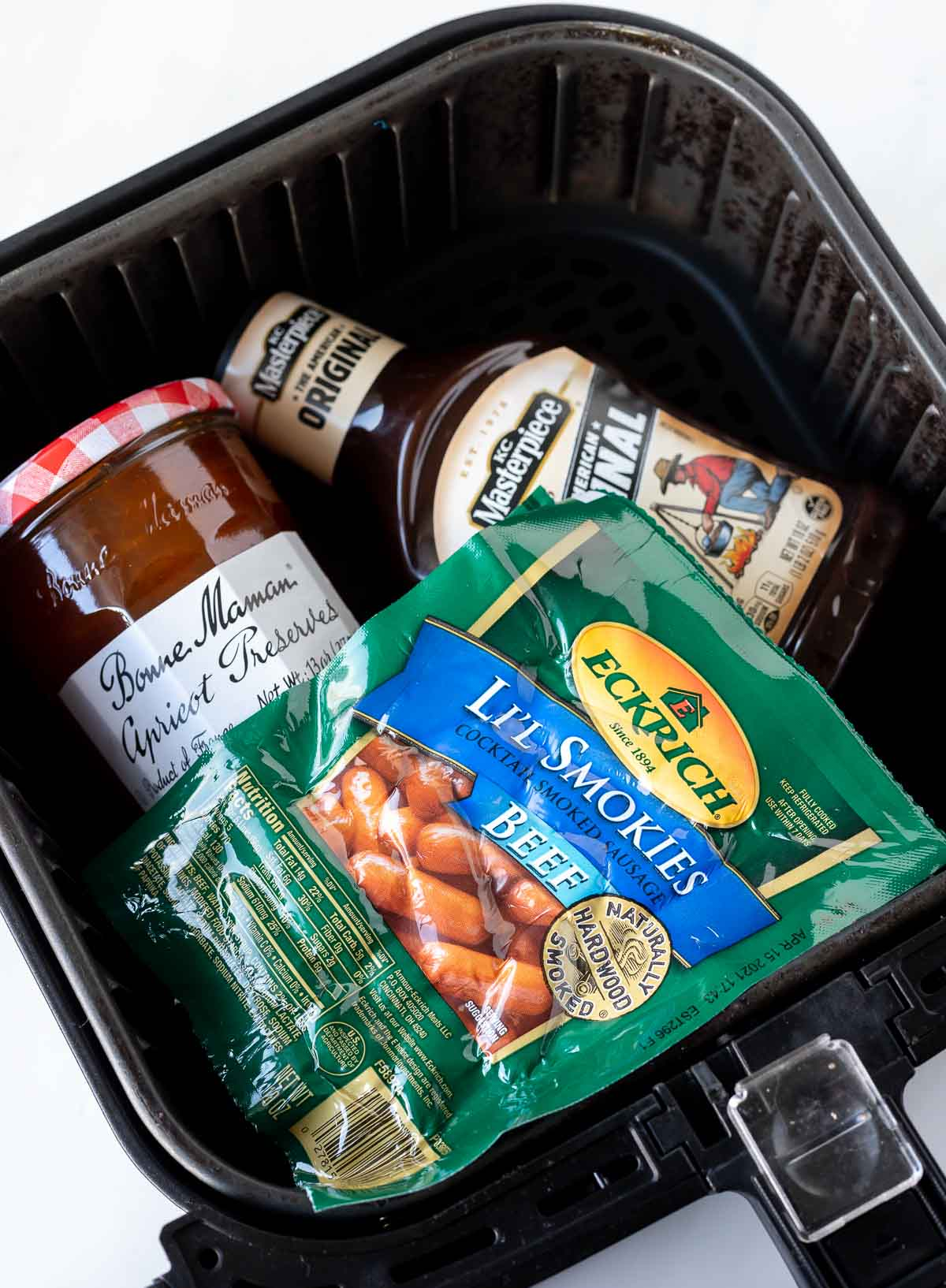 bbq lil smokies ingredients in air fryer basket