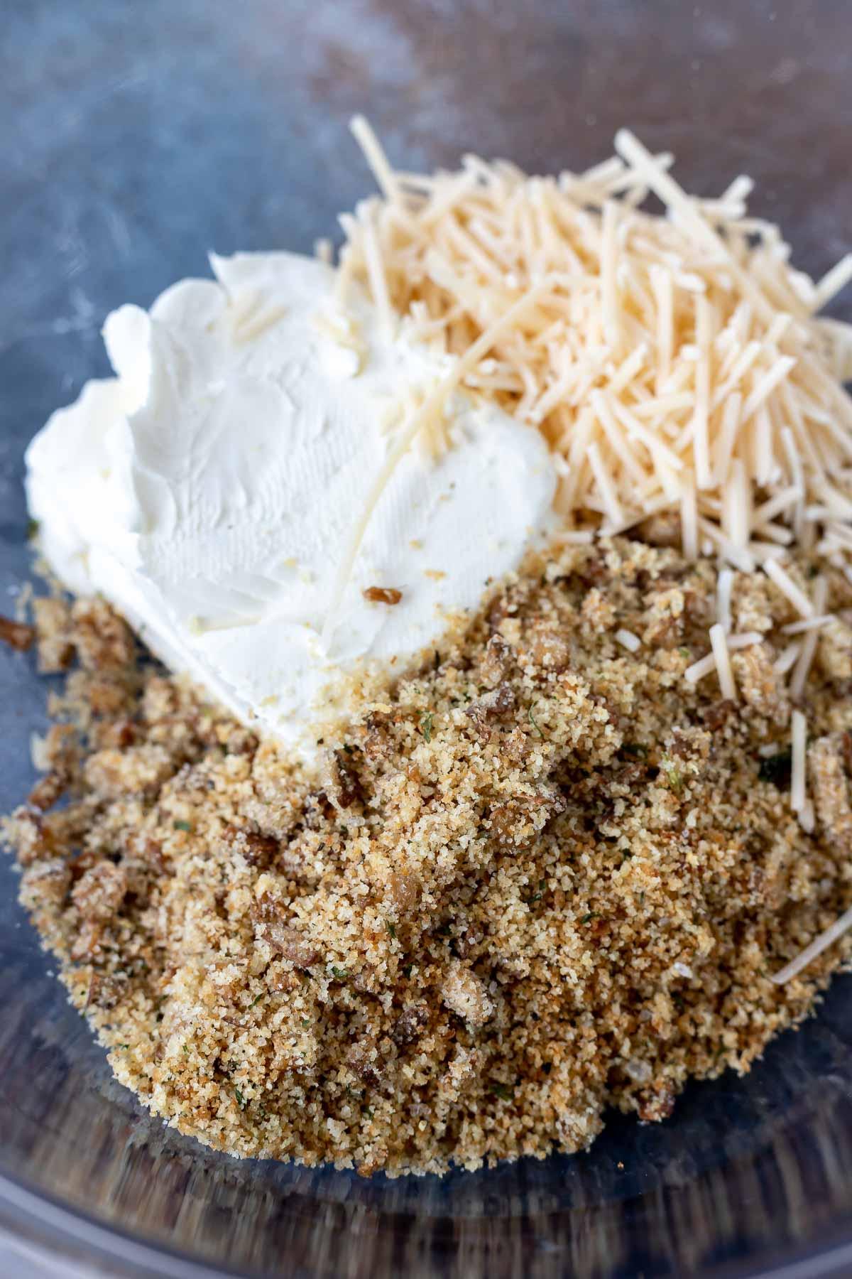 stuffing mix ingredients in bowl