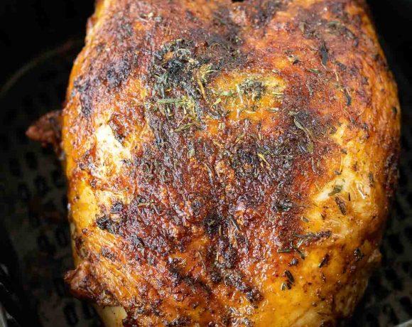 roasted turkey breast in air fryer basket