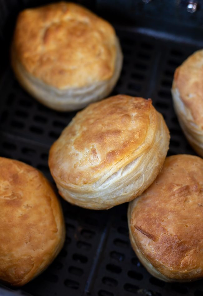 cooked golden biscuits
