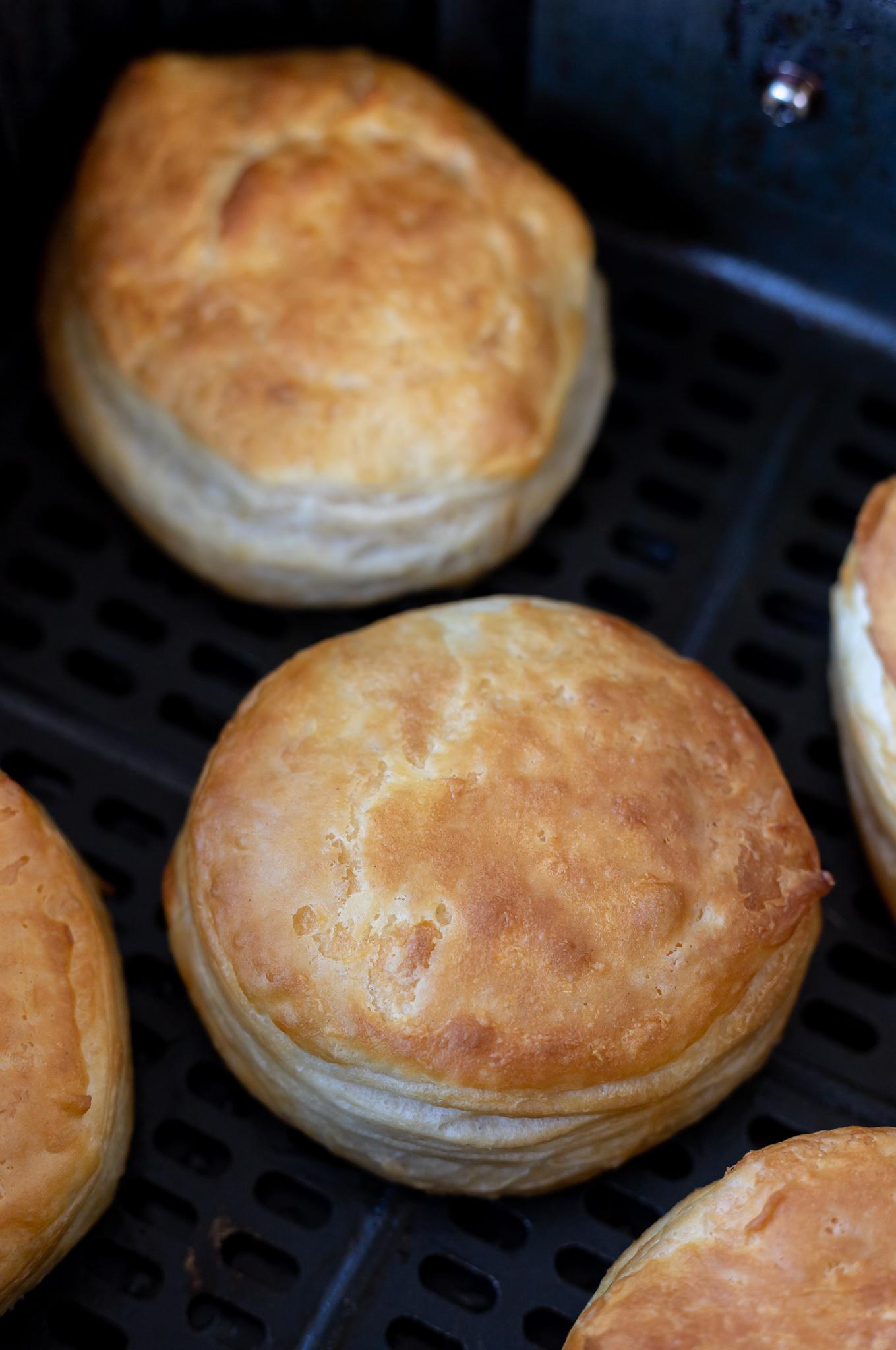 golden brown cooked biscuits