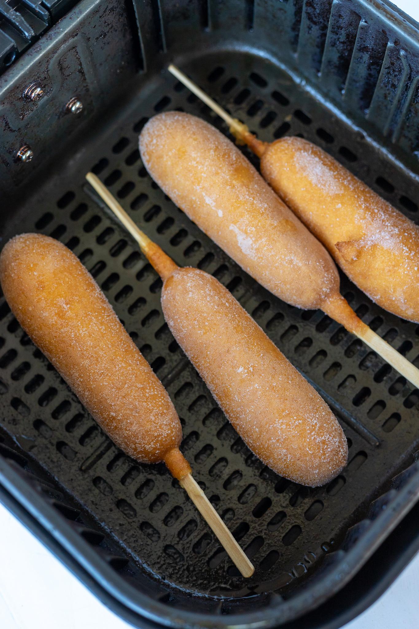 frozen corn dogs in air fryer basket