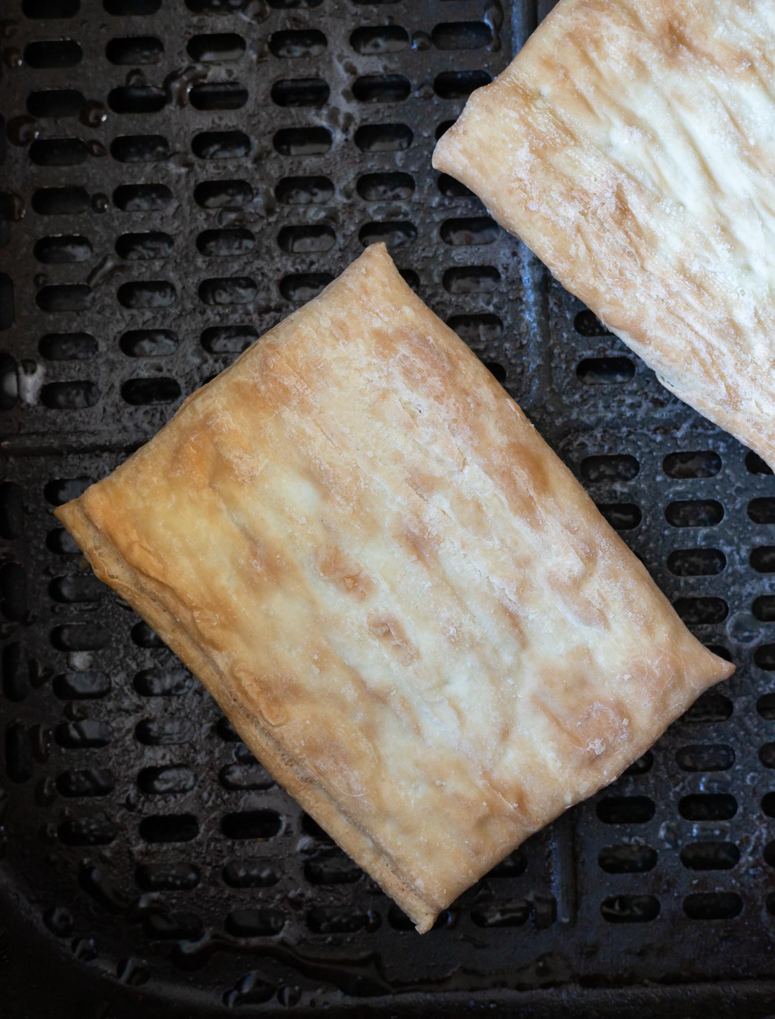 frozen toaster strudels in air fryer basket
